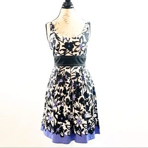 Maurice's Sundress with sash black white flowers